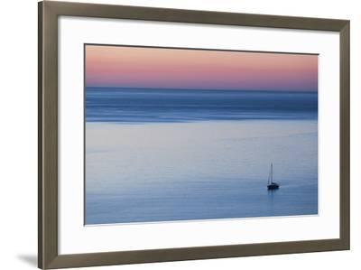 Elevated Port View at Dusk, St-Florent, Le Nebbio, Corsica, France-Walter Bibikow-Framed Photographic Print