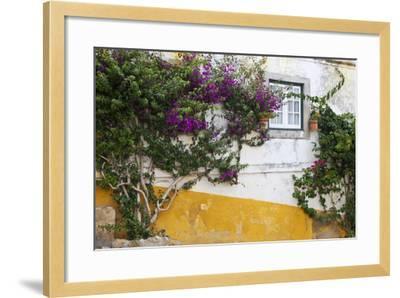 Street Along Obidos, Leiria, Portugal-Julie Eggers-Framed Photographic Print