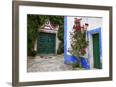 Street Along Obidos, Leiria, Portugal-Julie Eggers-Framed Photographic Print