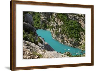 Boating in Gorges Du Verdon, Alpes De Haute Provence, France-Brian Jannsen-Framed Photographic Print