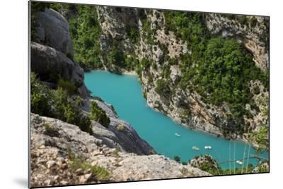 Boating in Gorges Du Verdon, Alpes De Haute Provence, France-Brian Jannsen-Mounted Photographic Print