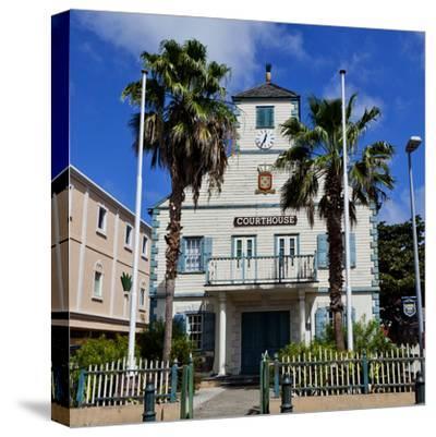 Town of Philipsburg in St. Maarten, West Indies.-Joe Restuccia III-Stretched Canvas Print