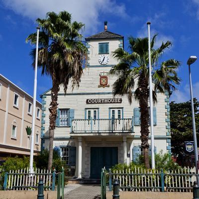 Town of Philipsburg in St. Maarten, West Indies.-Joe Restuccia III-Framed Photographic Print