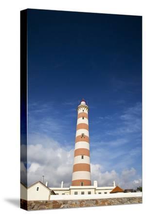 Barra Lighthouse, Costa Nova, Aveiro, Portugal-Julie Eggers-Stretched Canvas Print