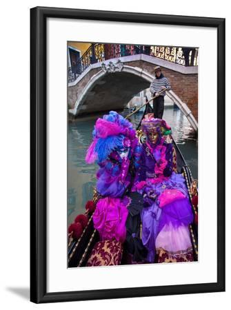 Elaborate Costumes for Carnival Festival, Venice, Italy-Jaynes Gallery-Framed Photographic Print
