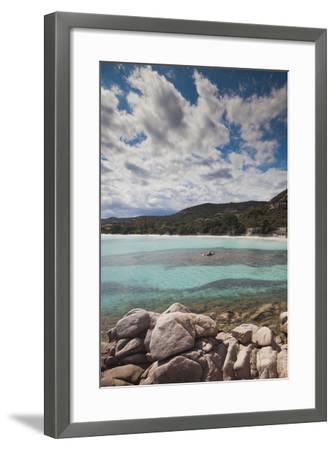 Plage De Palombaggia Beach, Porto Vecchio, Corsica, France-Walter Bibikow-Framed Photographic Print