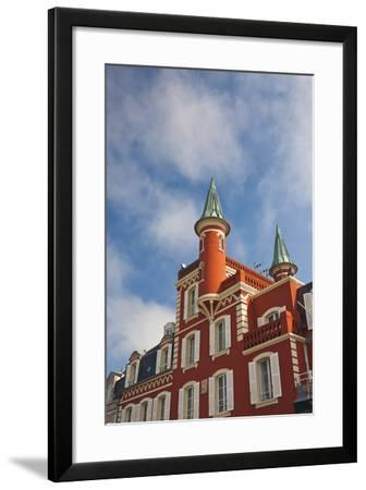 Building Detail, Somme Bay, Le Crotoy, Picardy, France-Walter Bibikow-Framed Photographic Print