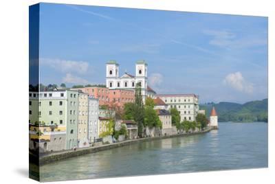 Danube River, Passau, Bavaria, Germany-Jim Engelbrecht-Stretched Canvas Print