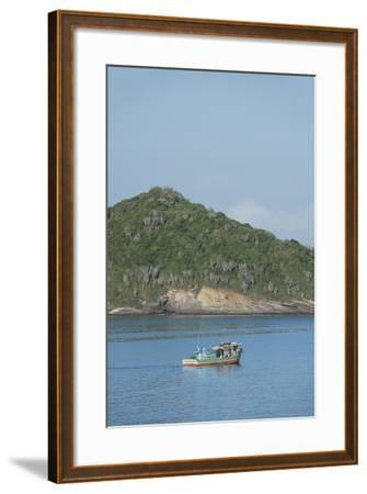 Colorful Fishing Boat Off the Coast of Buzios, Rio De Janeiro, Brazil-Cindy Miller Hopkins-Framed Photographic Print