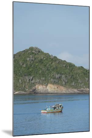 Colorful Fishing Boat Off the Coast of Buzios, Rio De Janeiro, Brazil-Cindy Miller Hopkins-Mounted Photographic Print