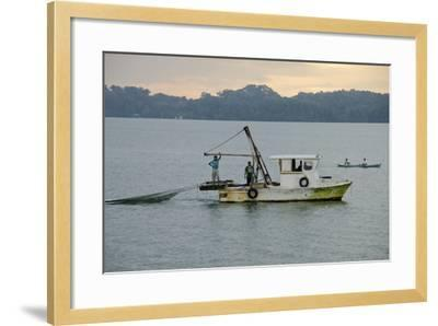 Early Morning Local Fishing Boat, Livingston, Rio Dulce, Guatemala-Cindy Miller Hopkins-Framed Photographic Print