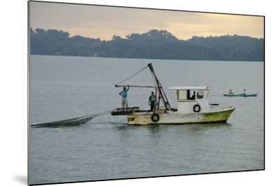Early Morning Local Fishing Boat, Livingston, Rio Dulce, Guatemala-Cindy Miller Hopkins-Mounted Photographic Print