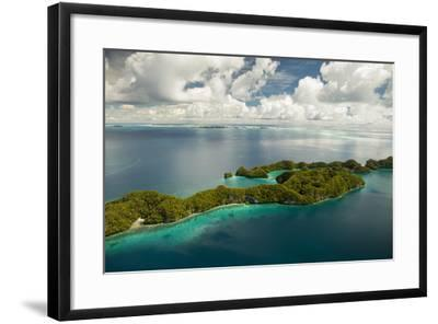 Aerial View of Rock Islands of Palau, Micronesia-Michel Benoy Westmorland-Framed Photographic Print