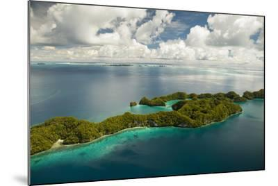 Aerial View of Rock Islands of Palau, Micronesia-Michel Benoy Westmorland-Mounted Photographic Print