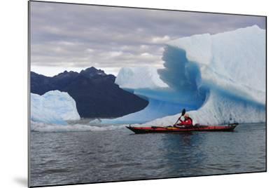 Sea Kayaking Among Icebergs, Laguna San Rafael NP, Aysen, Chile-Fredrik Norrsell-Mounted Photographic Print