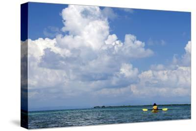 Kayaking around Barrier Reef, Southwater Cay, Belize-Cindy Miller Hopkins-Stretched Canvas Print