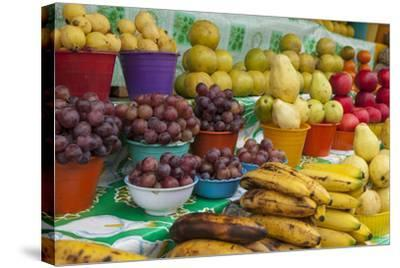 Local Fruit and Vegetables at a Market in San Juan Chamula, Mexico-Michel Benoy Westmorland-Stretched Canvas Print