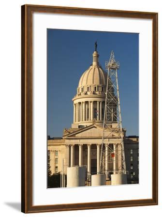 Oklahoma State Capitol Building, Oklahoma City, Oklahoma, USA-Walter Bibikow-Framed Photographic Print