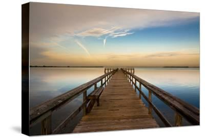 Sunrise on the Pier at Terre Ceia Bay, Florida, USA-Richard Duval-Stretched Canvas Print