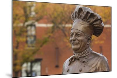 Statue of Famed Chef Boy-Ar-Dee, Omaha, Nebraska, USA-Walter Bibikow-Mounted Photographic Print