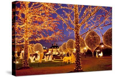 Christmas Décor and Lights, Opryland Hotel, Nashville, Tennessee, USA-Brian Jannsen-Stretched Canvas Print