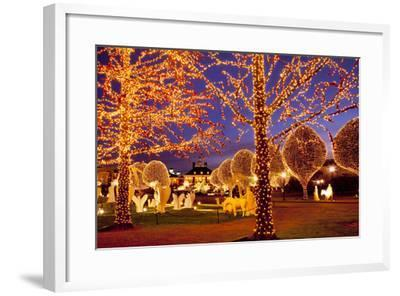 Christmas Décor and Lights, Opryland Hotel, Nashville, Tennessee, USA-Brian Jannsen-Framed Photographic Print