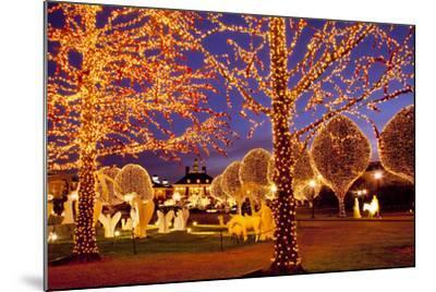 Christmas Décor and Lights, Opryland Hotel, Nashville, Tennessee, USA-Brian Jannsen-Mounted Photographic Print