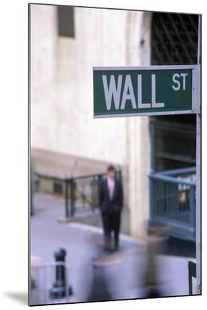 Wall Street Sign, Manhattan, New York, USA-Peter Bennett-Mounted Premium Photographic Print