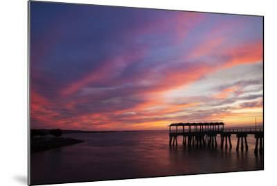 Fishing Pier at Sunset, Jekyll Island, Georgia, USA-Joanne Wells-Mounted Photographic Print
