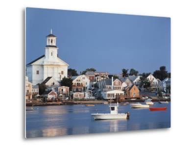 Provincetown Harbor and Town, Cape, Cod, Massachusetts, USA-Walter Bibikow-Metal Print