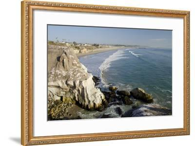 Rocky Coastal Overview, Pismo Beach, California, USA-Cindy Miller Hopkins-Framed Photographic Print
