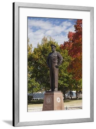 Eisenhower Statue, Abilene, Kansas, USA-Walter Bibikow-Framed Photographic Print