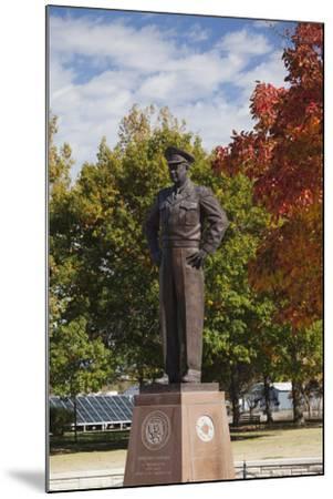 Eisenhower Statue, Abilene, Kansas, USA-Walter Bibikow-Mounted Photographic Print