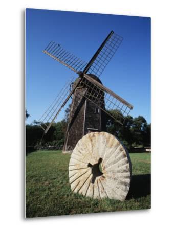 Jamestown Windmill, Conanicut Island, Rhode Island, USA-Walter Bibikow-Metal Print