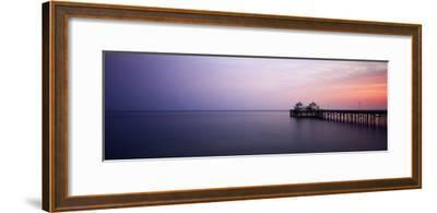 Pier at Dusk, Malibu, California, USA-Walter Bibikow-Framed Photographic Print