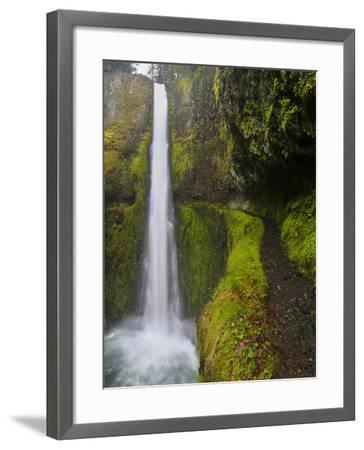 Tunnel Falls on Eagle Creek, Columbia Gorge, Oregon, USA-Gary Luhm-Framed Photographic Print