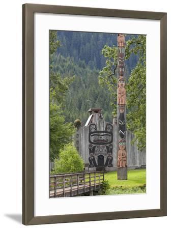 View of Chief Shakes Tribal House, Wrangell, Alaska, USA-Jaynes Gallery-Framed Photographic Print