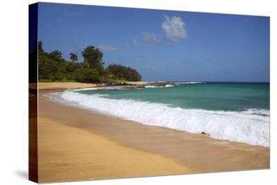 Scenic of Secret Beach, Kauai, Hawaii, USA-Jaynes Gallery-Stretched Canvas Print