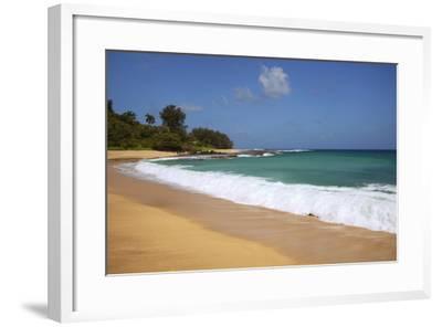 Scenic of Secret Beach, Kauai, Hawaii, USA-Jaynes Gallery-Framed Photographic Print