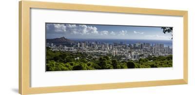 Downtown Honolulu, Hawaii, USA-Charles Crust-Framed Photographic Print