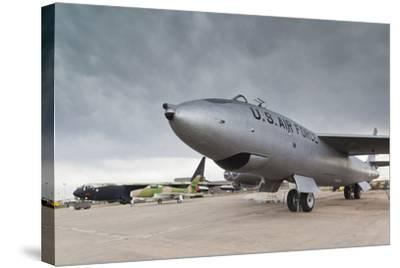 Boeing B-47, Kansas Aviation Museum, Wichita, Kansas, USA-Walter Bibikow-Stretched Canvas Print