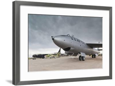 Boeing B-47, Kansas Aviation Museum, Wichita, Kansas, USA-Walter Bibikow-Framed Photographic Print