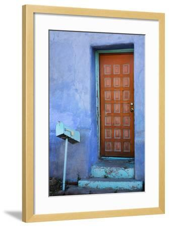 Colorful Doorway, Barrio Historico District,Tucson, Arizona, USA-Jamie & Judy Wild-Framed Photographic Print