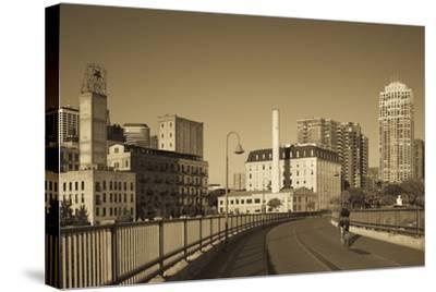 Stone Arch Bridge, Stpaul, Minneapolis, Minnesota, USA-Walter Bibikow-Stretched Canvas Print