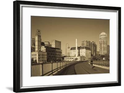 Stone Arch Bridge, Stpaul, Minneapolis, Minnesota, USA-Walter Bibikow-Framed Photographic Print