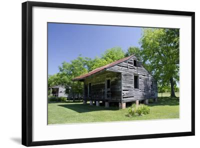 Slave Cabin, Vacherie, New Orleans, Louisiana, USA-Cindy Miller Hopkins-Framed Photographic Print