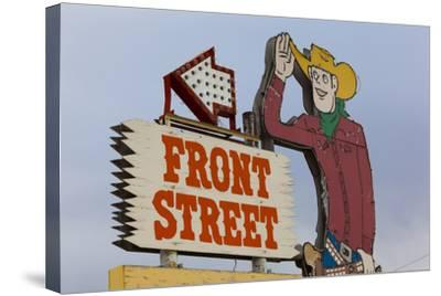 Front Street Western Town, Ogallala, Nebraska, USA-Walter Bibikow-Stretched Canvas Print