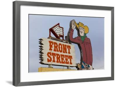 Front Street Western Town, Ogallala, Nebraska, USA-Walter Bibikow-Framed Photographic Print