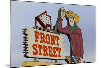 Front Street Western Town, Ogallala, Nebraska, USA-Walter Bibikow-Mounted Photographic Print