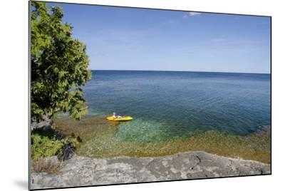 Cave Point County Park, Lake Michigan, Door County, Wisconsin, USA-Cindy Miller Hopkins-Mounted Photographic Print